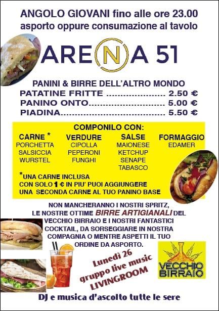 Menu Arena 51